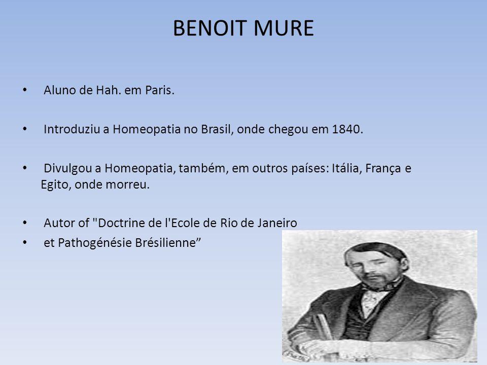 BENOIT MURE Aluno de Hah. em Paris.