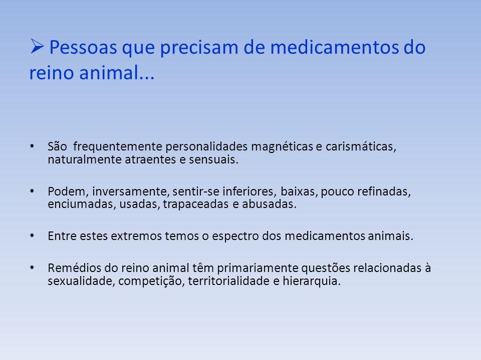 Pessoas que precisam de medicamentos do reino animal...