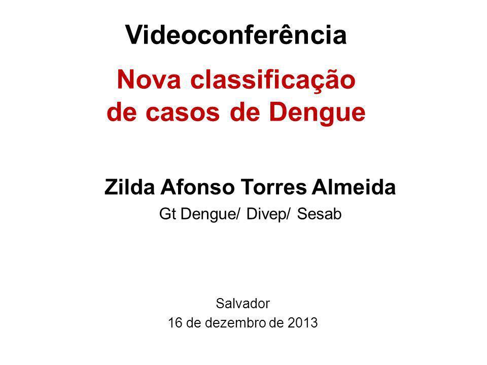 Videoconferência Nova classificação de casos de Dengue