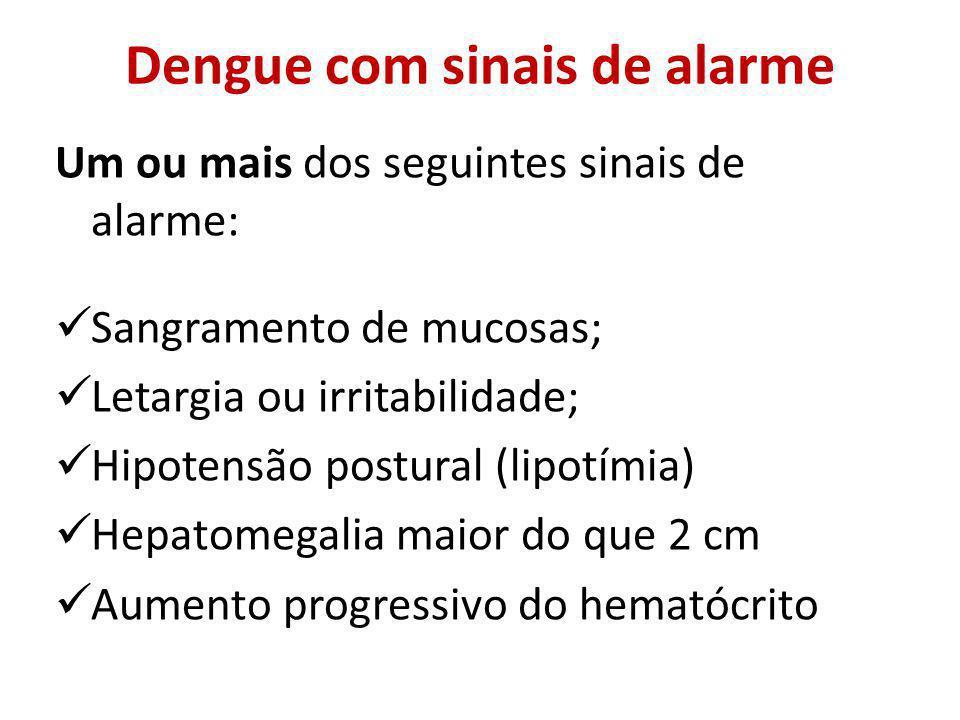 Dengue com sinais de alarme