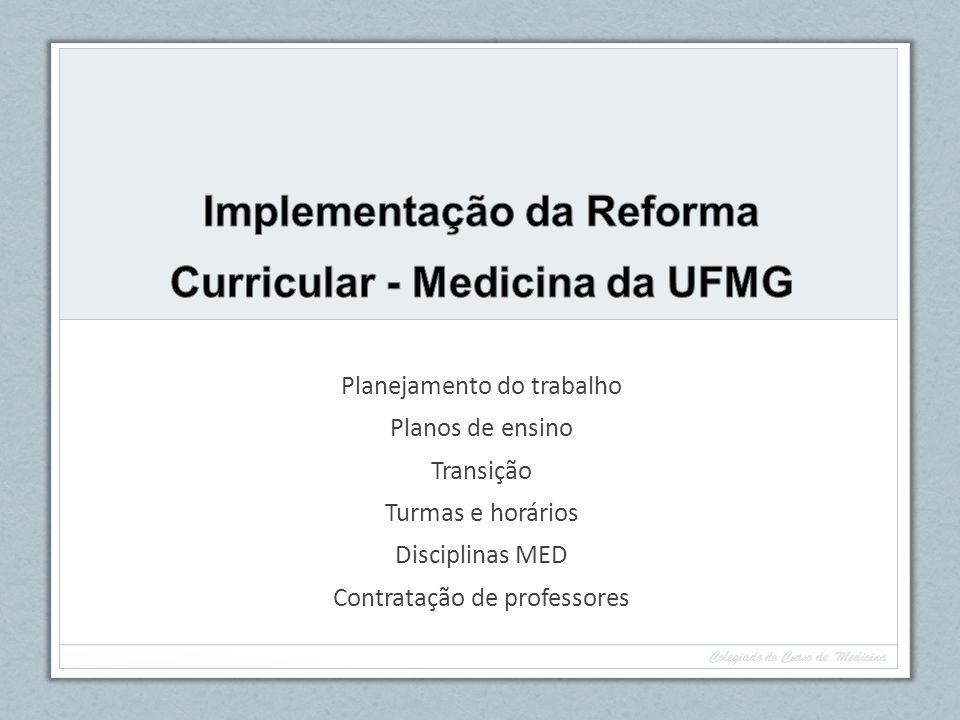 Implementação da Reforma Curricular - Medicina da UFMG