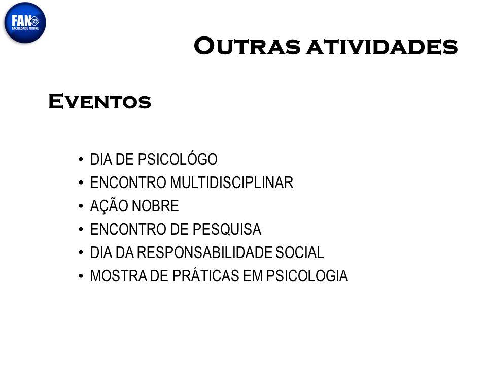 Outras atividades Eventos DIA DE PSICOLÓGO ENCONTRO MULTIDISCIPLINAR