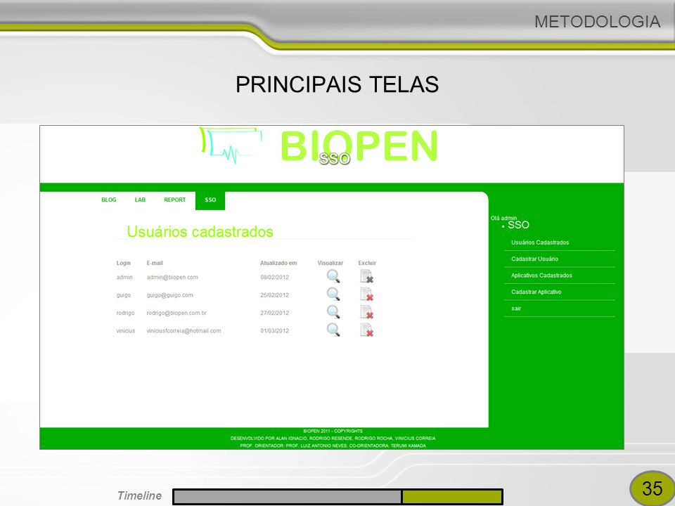 METODOLOGIA PRINCIPAIS TELAS VINICIUS VALIDACAO 35 Timeline