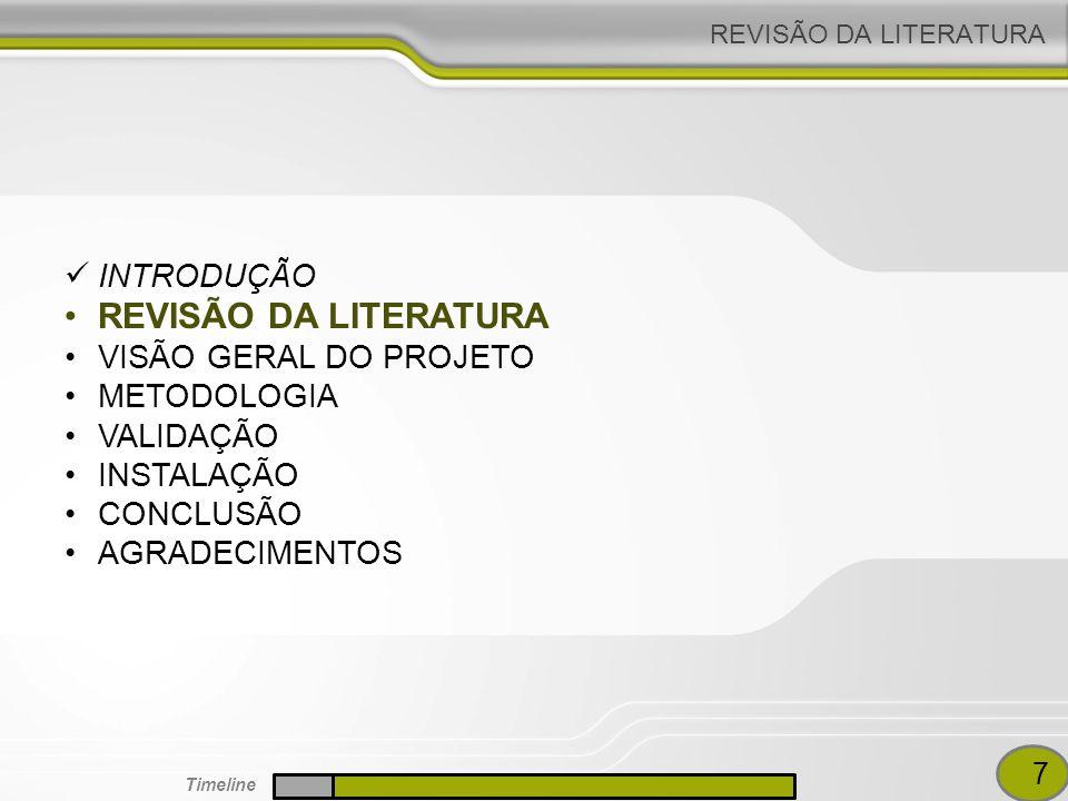 REVISÃO DA LITERATURA INTRODUÇÃO VISÃO GERAL DO PROJETO METODOLOGIA