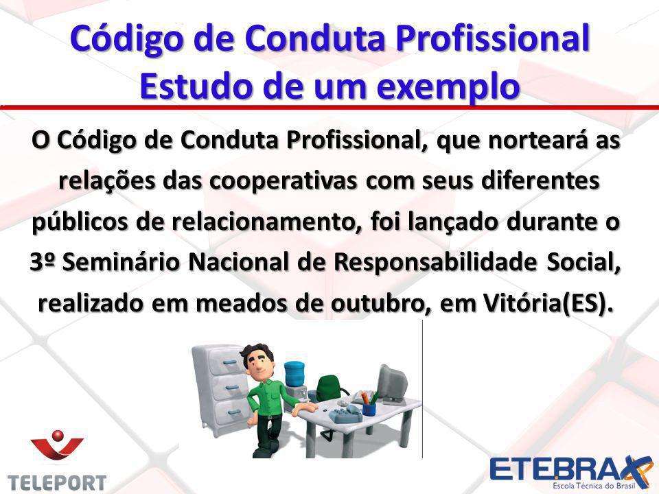 Código de Conduta Profissional Estudo de um exemplo