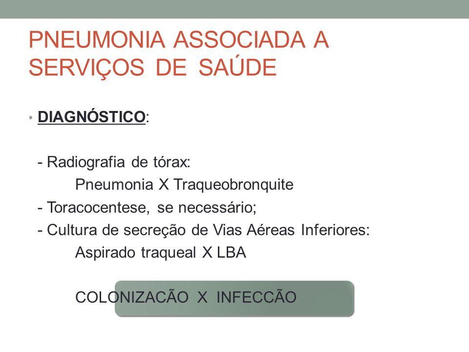 PNEUMONIA ASSOCIADA A SERVIÇOS DE SAÚDE