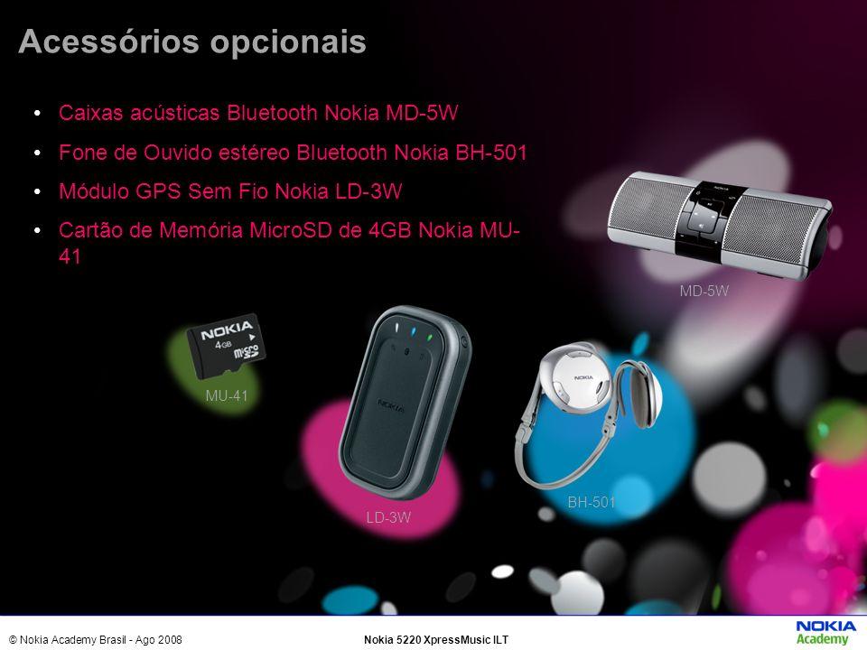Acessórios opcionais Caixas acústicas Bluetooth Nokia MD-5W