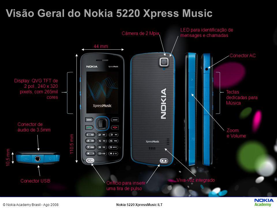 Visão Geral do Nokia 5220 Xpress Music
