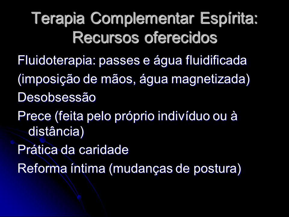 Terapia Complementar Espírita: Recursos oferecidos