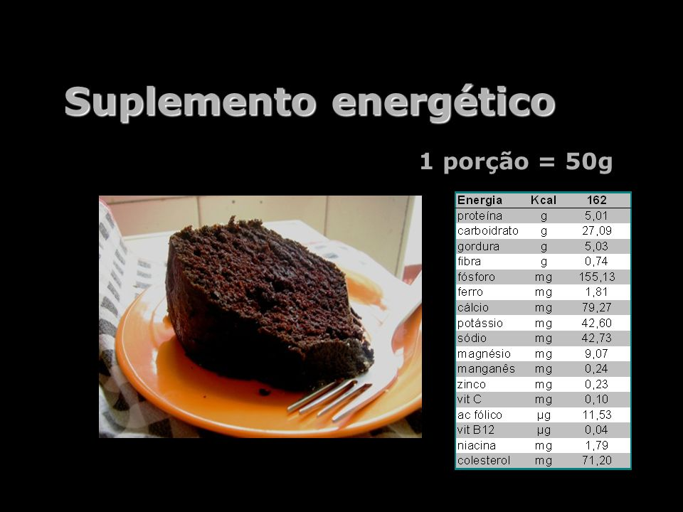 Suplemento energético