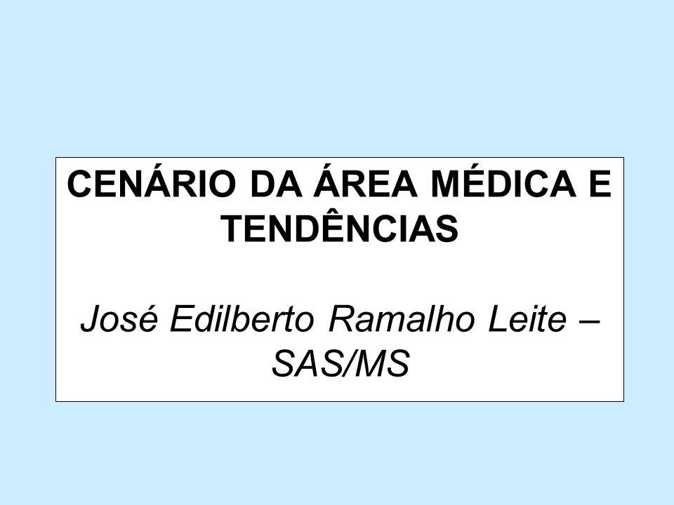 CENÁRIO DA ÁREA MÉDICA E TENDÊNCIAS José Edilberto Ramalho Leite – SAS/MS