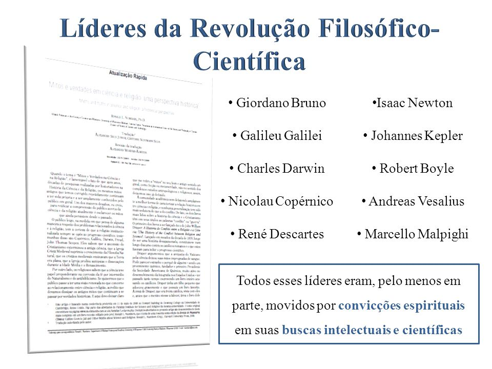 Líderes da Revolução Filosófico-Científica