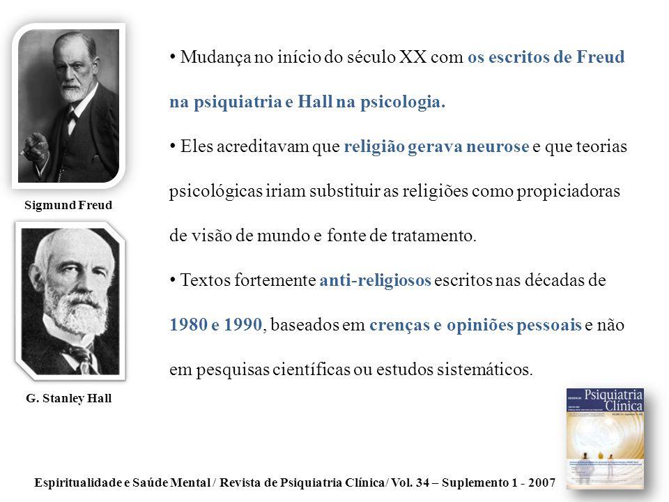 Mudança no início do século XX com os escritos de Freud na psiquiatria e Hall na psicologia.