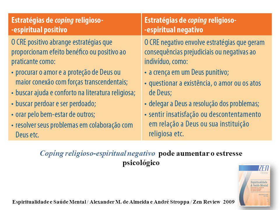 Copíng religioso-espiritual negativo pode aumentar o estresse psicológico