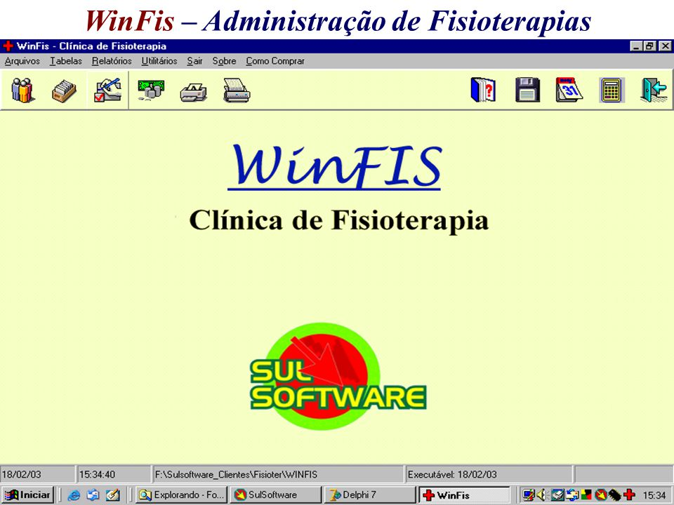 WinFis – Administração de Fisioterapias