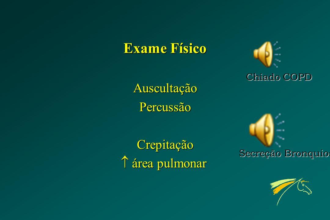 Exame Físico Auscultação Percussão Crepitação  área pulmonar