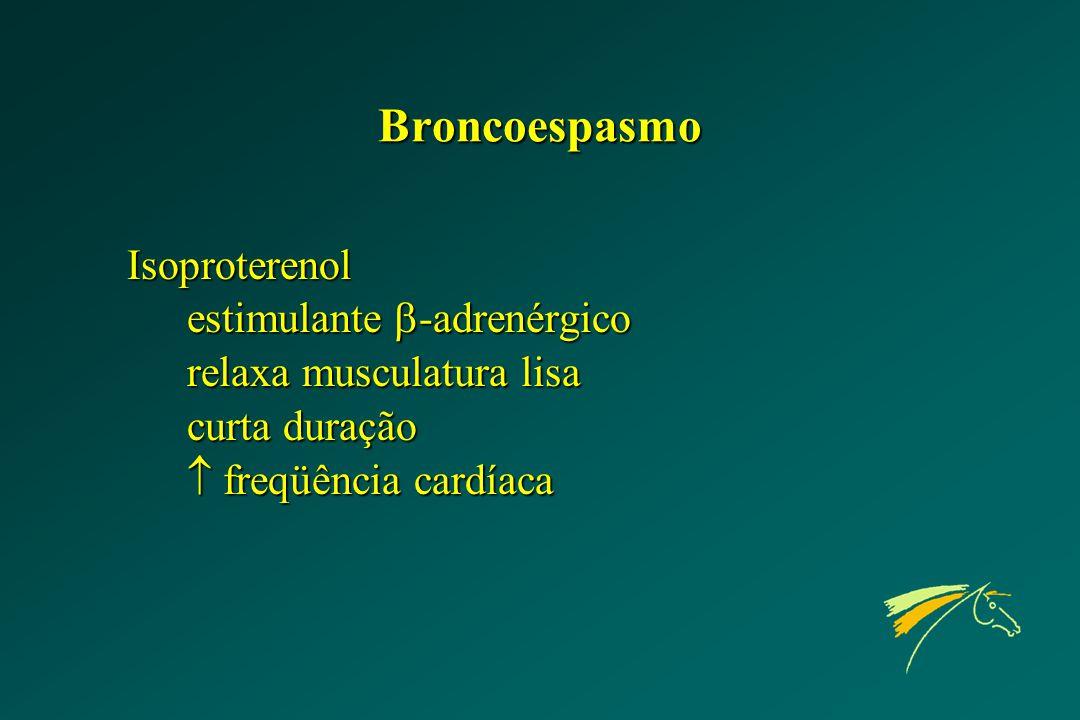 Broncoespasmo Isoproterenol estimulante -adrenérgico