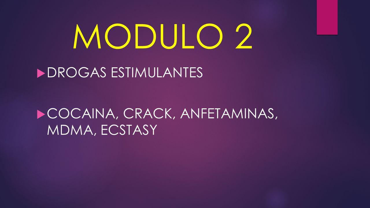 MODULO 2 DROGAS ESTIMULANTES