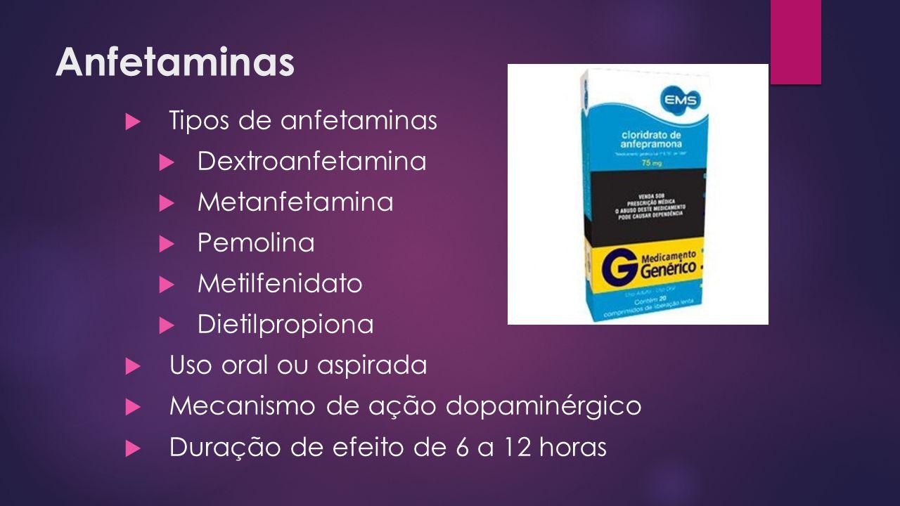 Anfetaminas Tipos de anfetaminas Dextroanfetamina Metanfetamina