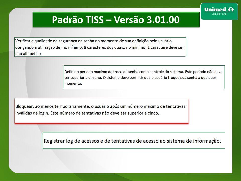 Padrão TISS – Versão 3.01.00