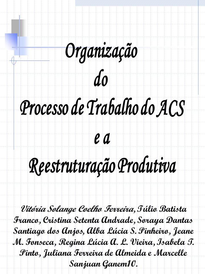 Processo de Trabalho do ACS Reestruturação Produtiva