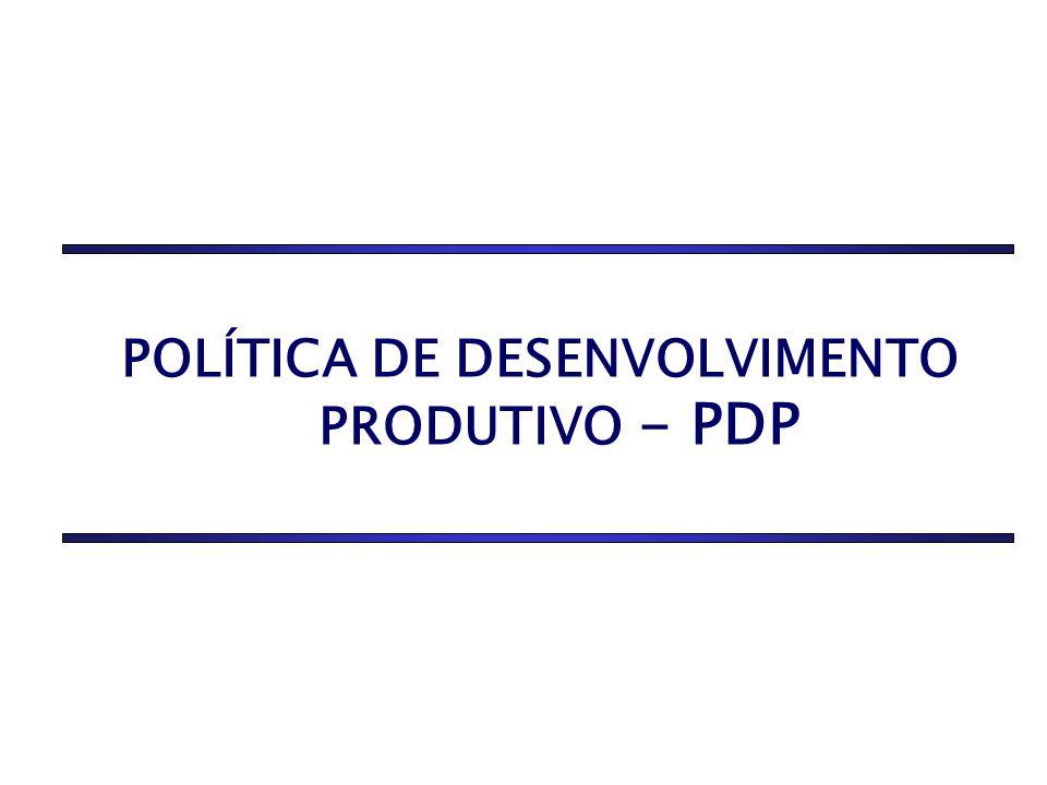 POLÍTICA DE DESENVOLVIMENTO PRODUTIVO - PDP
