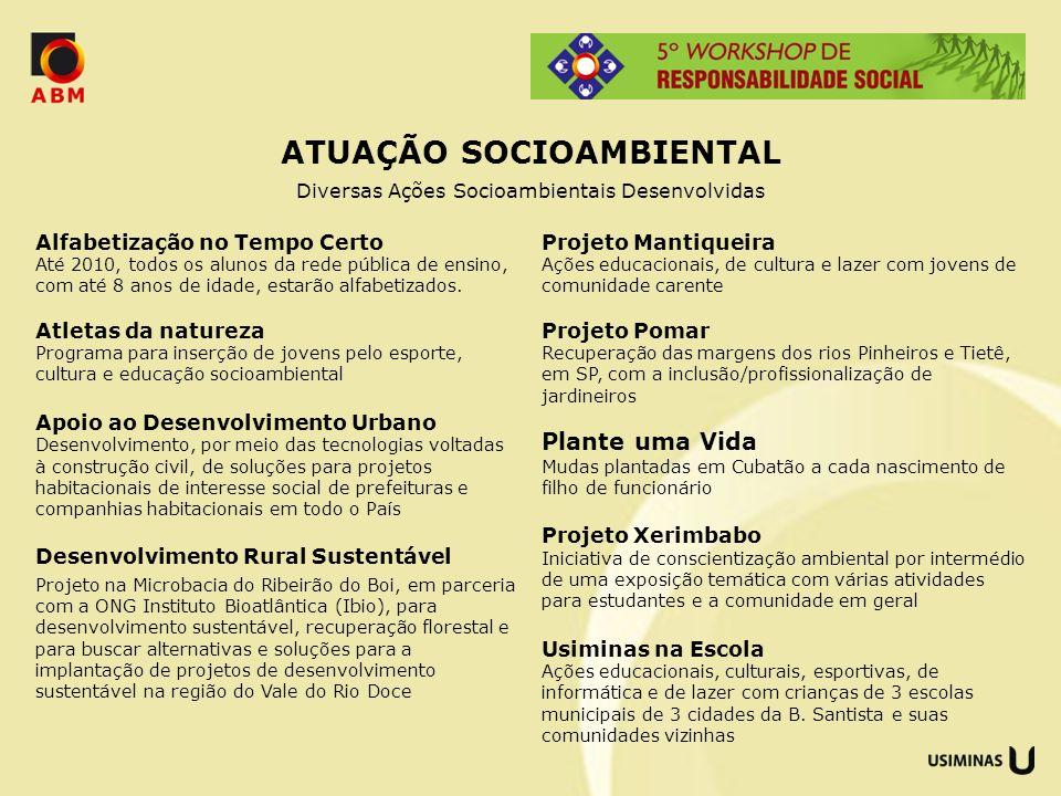 ATUAÇÃO SOCIOAMBIENTAL