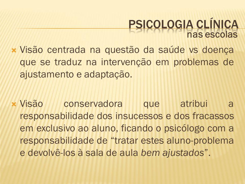 Psicologia clínica nas escolas