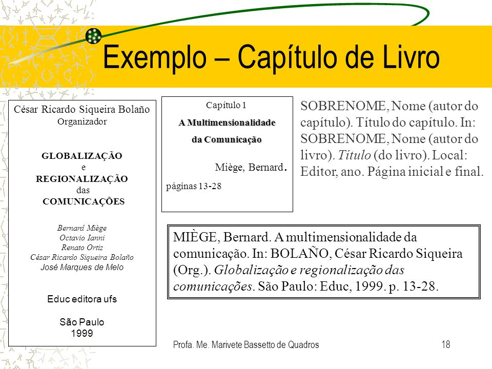 Exemplo – Capítulo de Livro