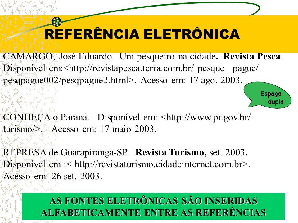 REFERÊNCIA ELETRÔNICA
