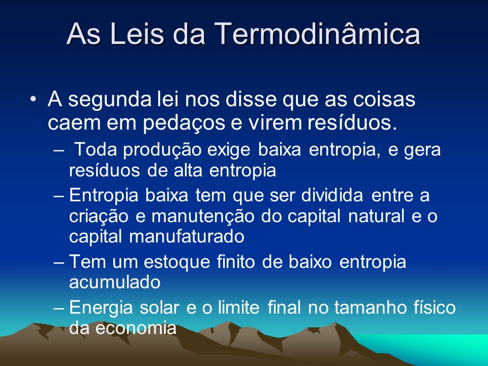 As Leis da Termodinâmica
