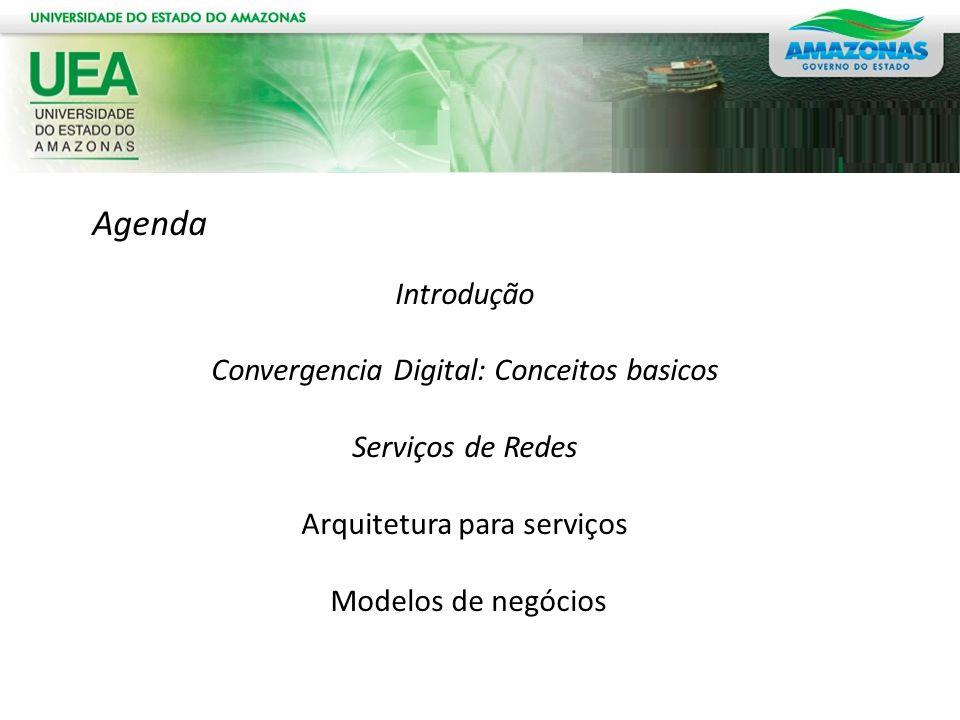 Agenda Introdução Convergencia Digital: Conceitos basicos