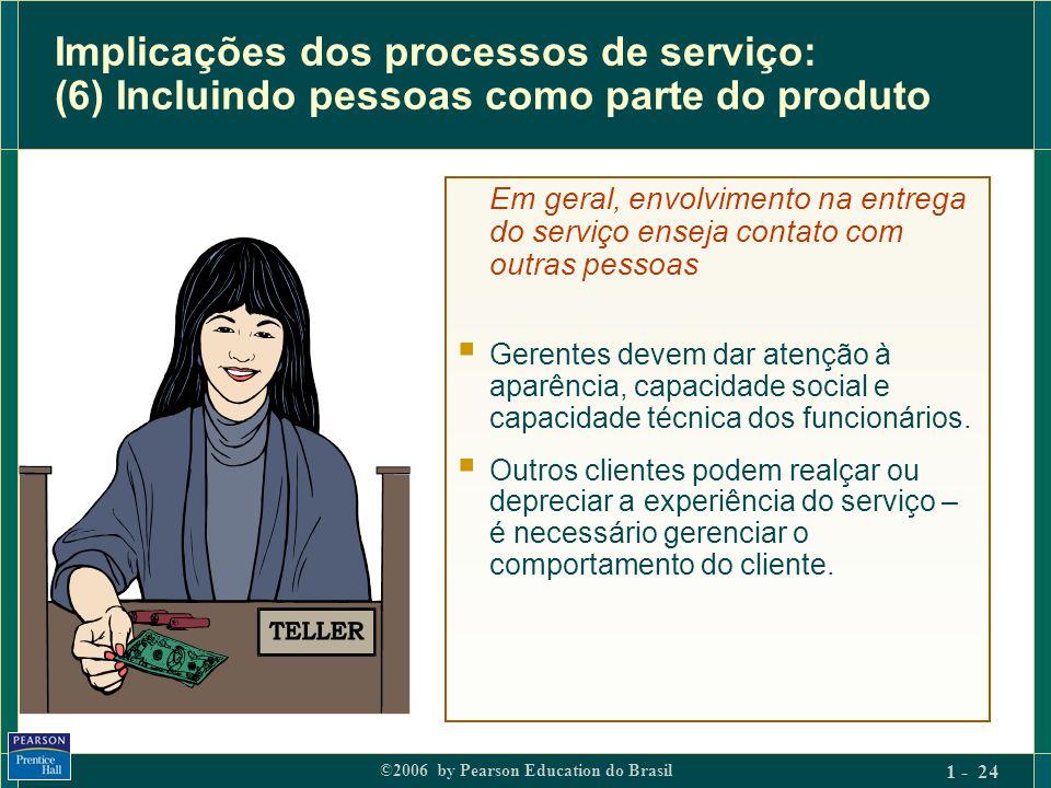 Implicações dos processos de serviço: (6) Incluindo pessoas como parte do produto