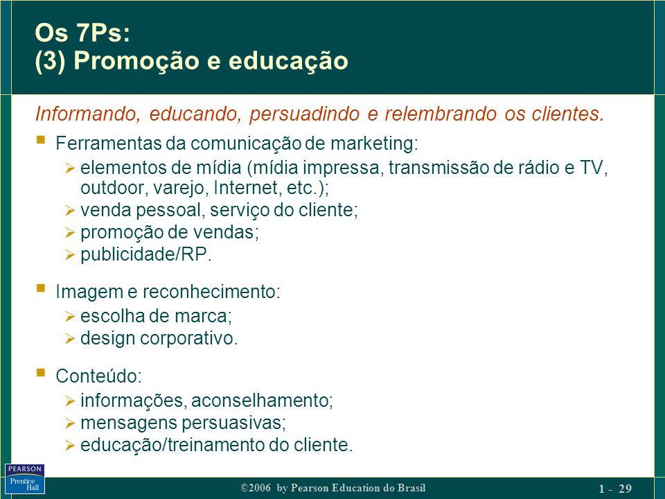 Os 7Ps: (3) Promoção e educação