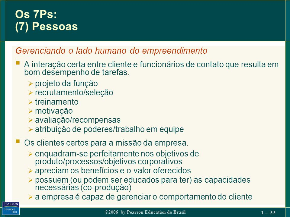 Os 7Ps: (7) Pessoas Gerenciando o lado humano do empreendimento