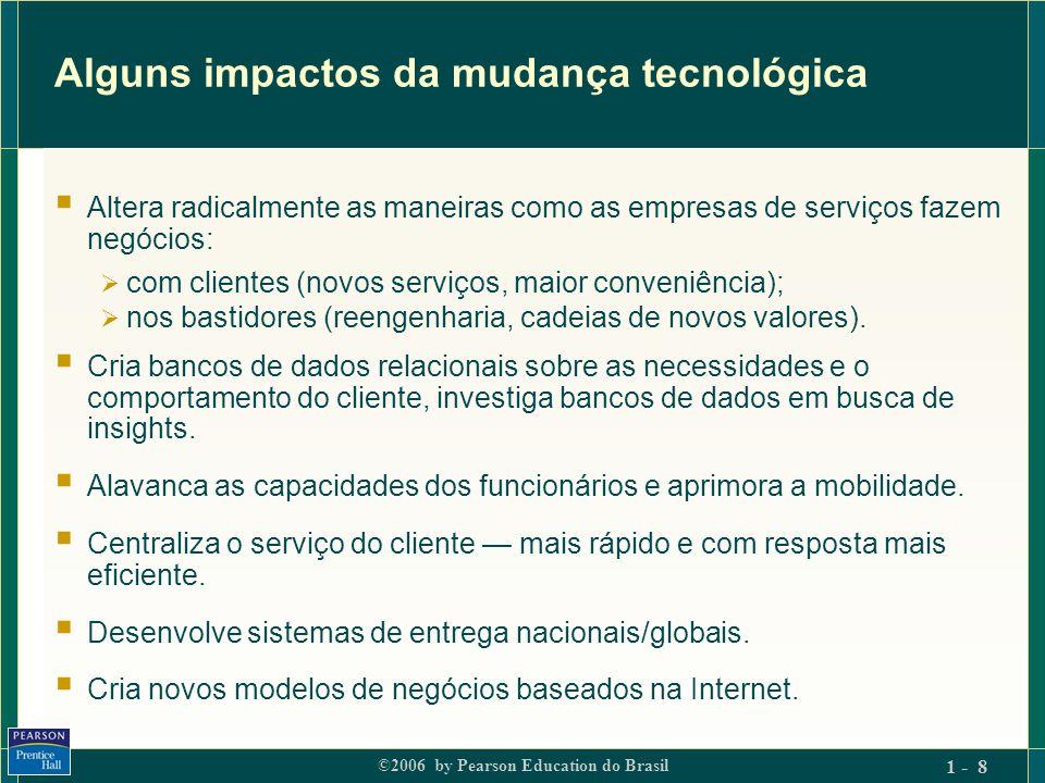Alguns impactos da mudança tecnológica