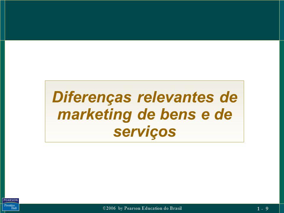 Diferenças relevantes de marketing de bens e de serviços