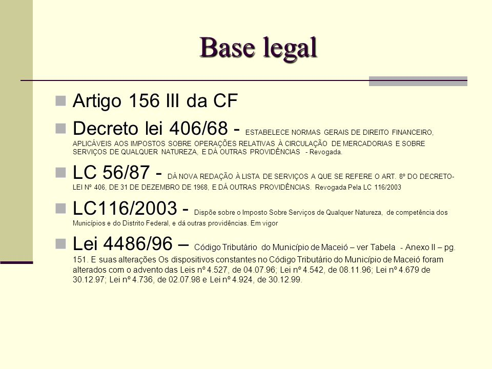 Base legal Artigo 156 III da CF