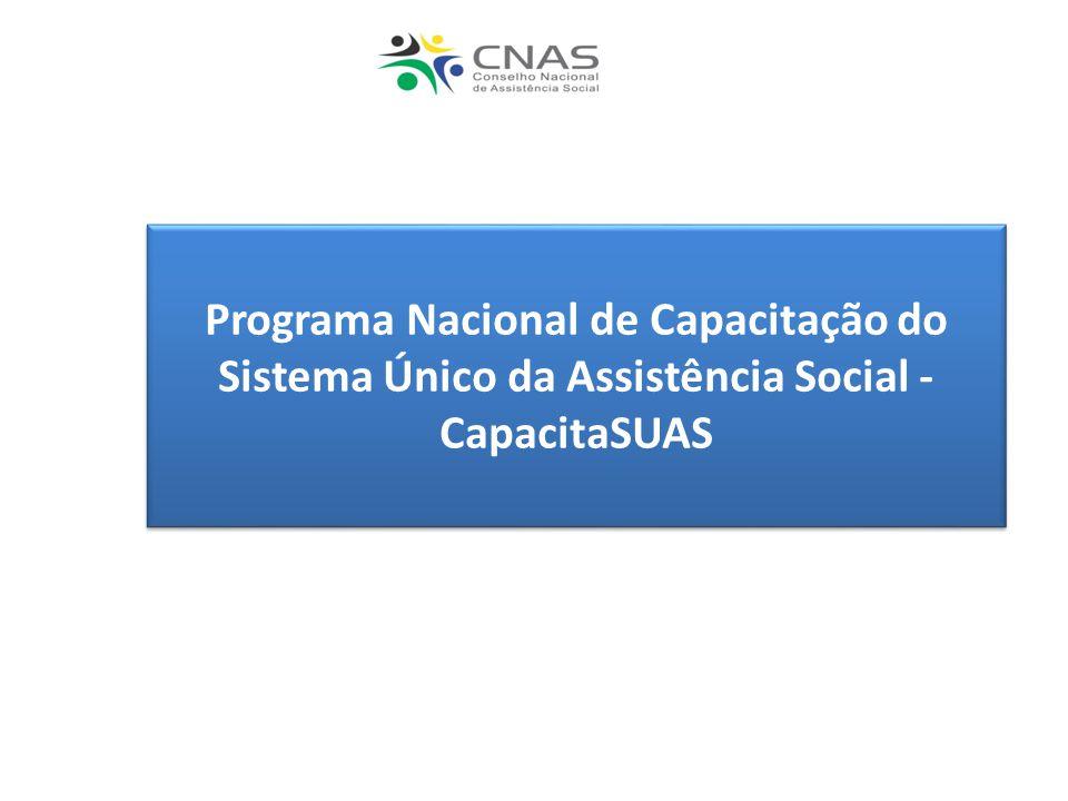 Programa Nacional de Capacitação do Sistema Único da Assistência Social - CapacitaSUAS