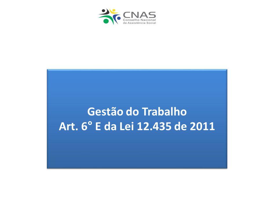 Gestão do Trabalho Art. 6° E da Lei 12.435 de 2011