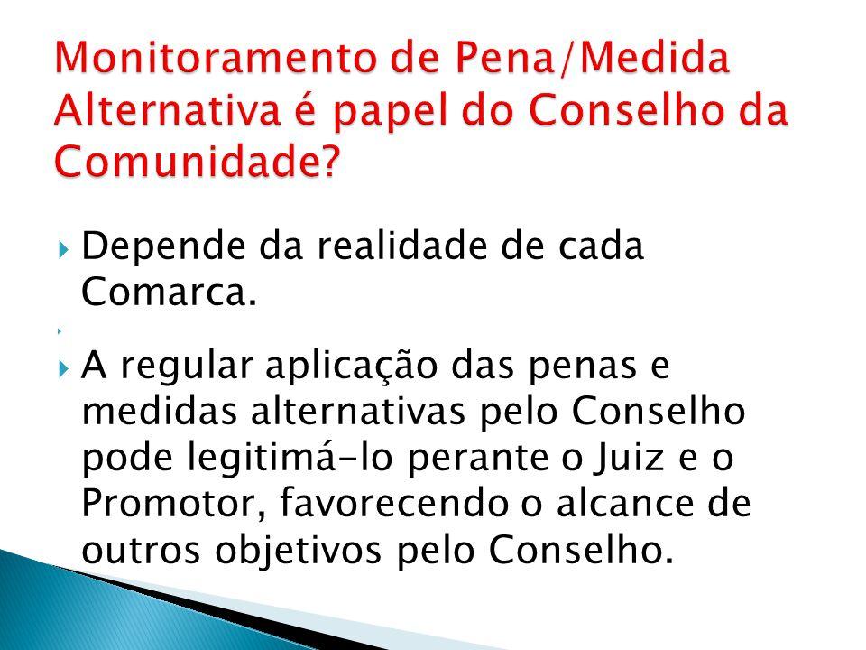 Monitoramento de Pena/Medida Alternativa é papel do Conselho da Comunidade