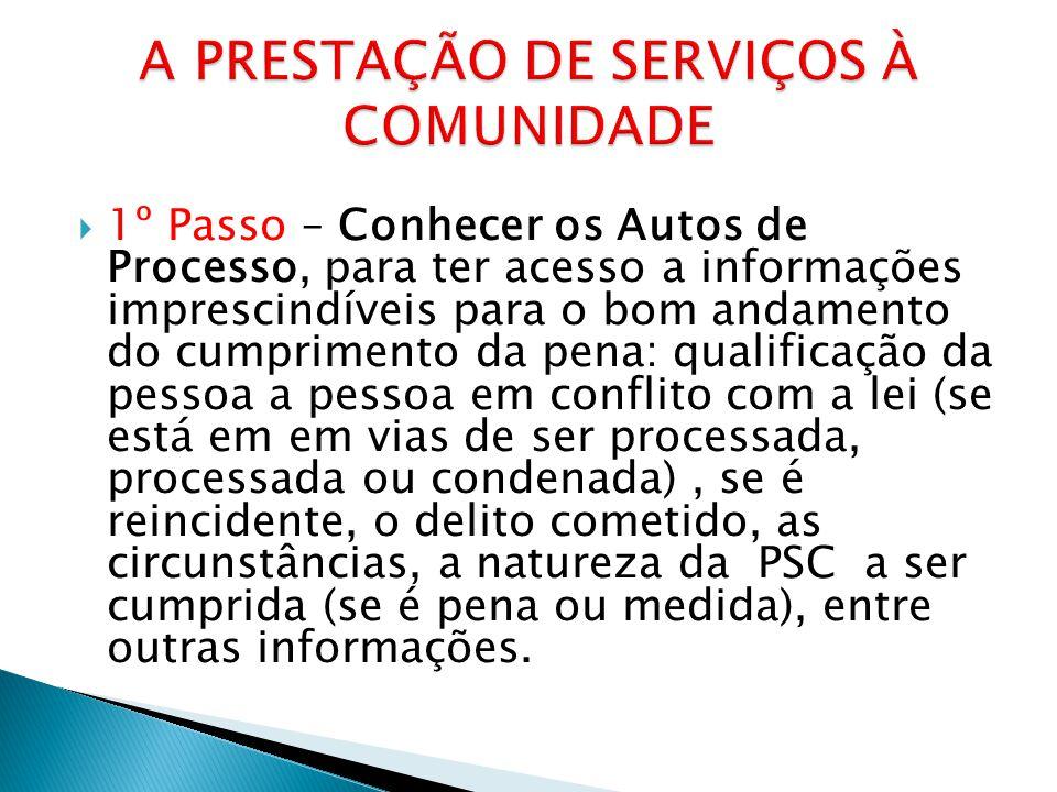 A PRESTAÇÃO DE SERVIÇOS À COMUNIDADE