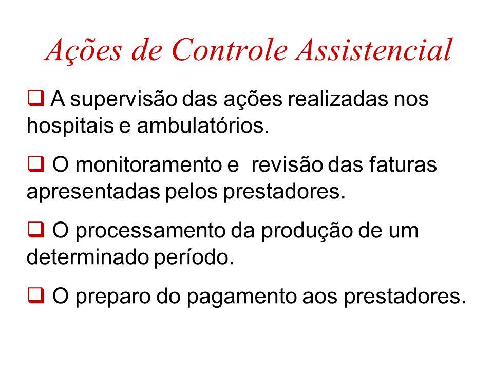 Ações de Controle Assistencial