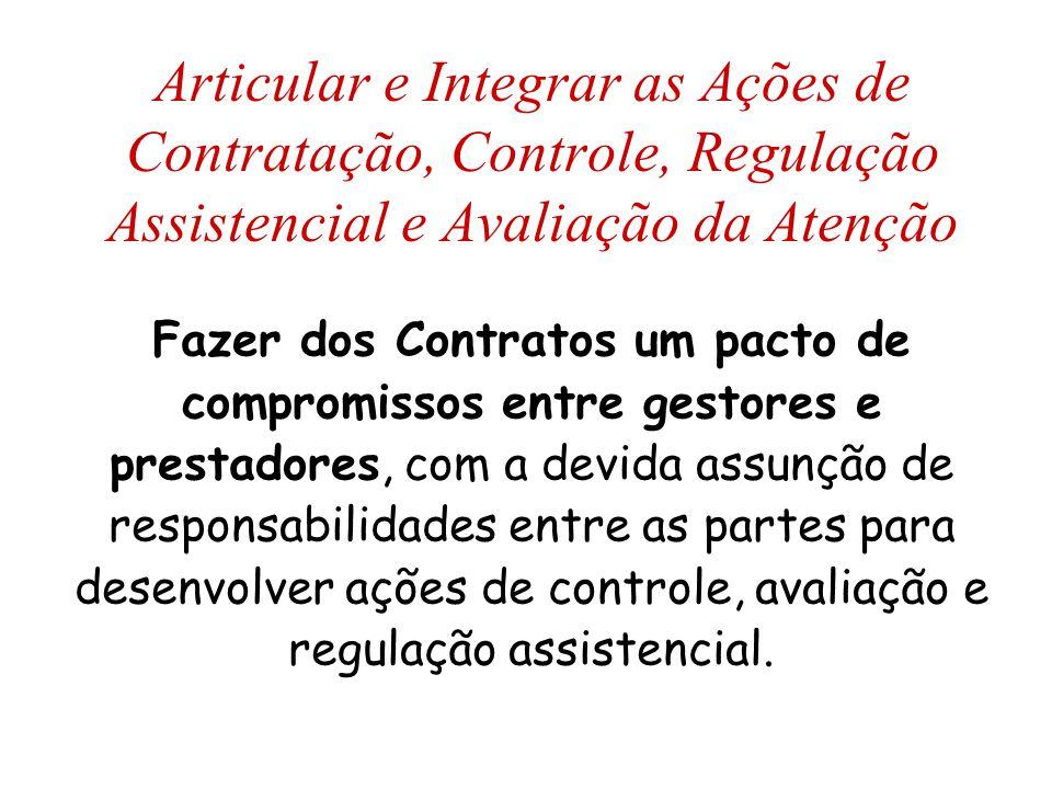 Articular e Integrar as Ações de Contratação, Controle, Regulação Assistencial e Avaliação da Atenção