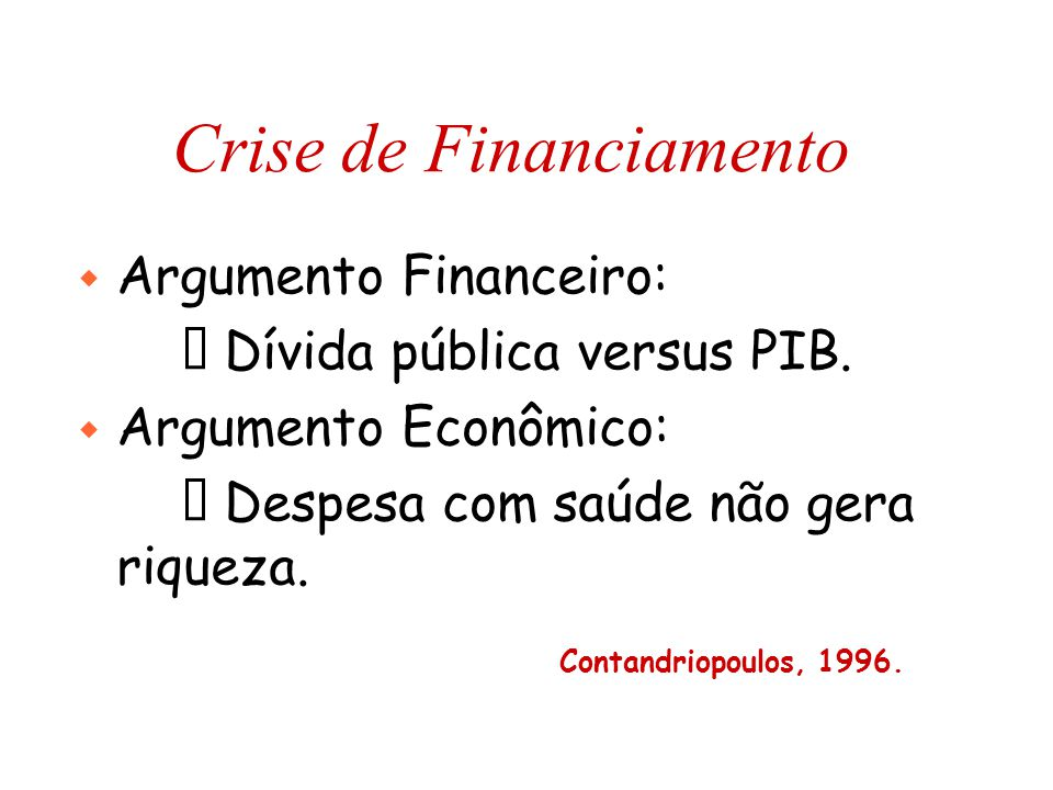 Crise de Financiamento