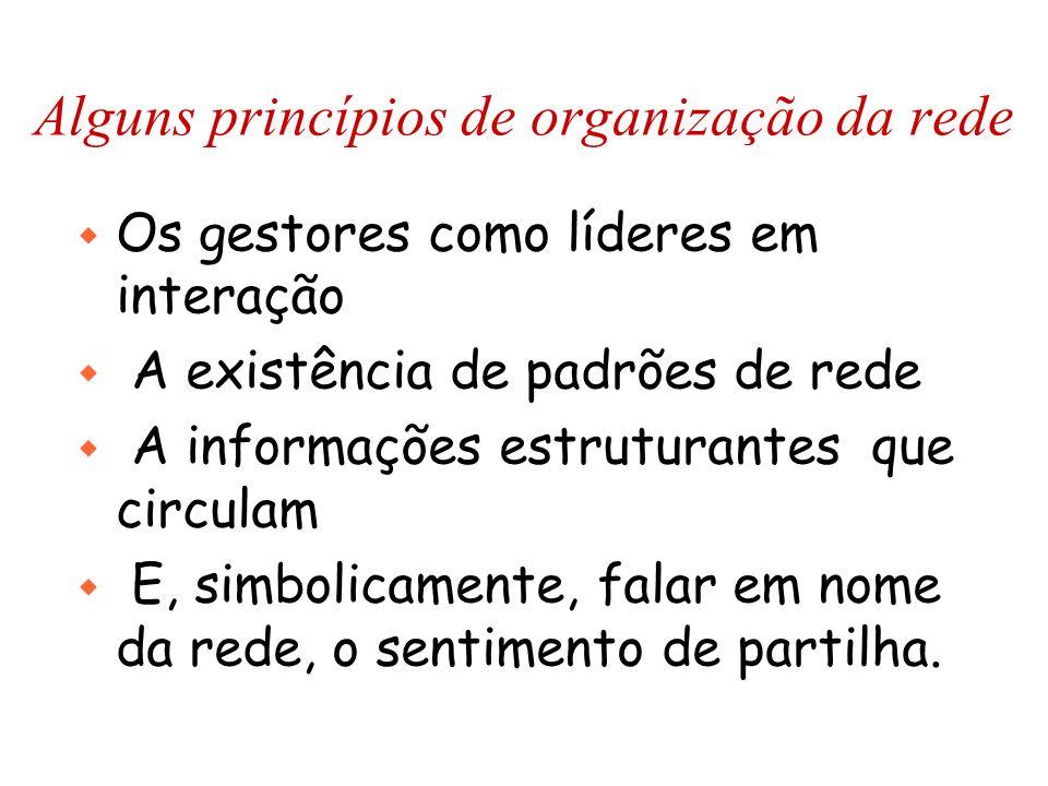 Alguns princípios de organização da rede