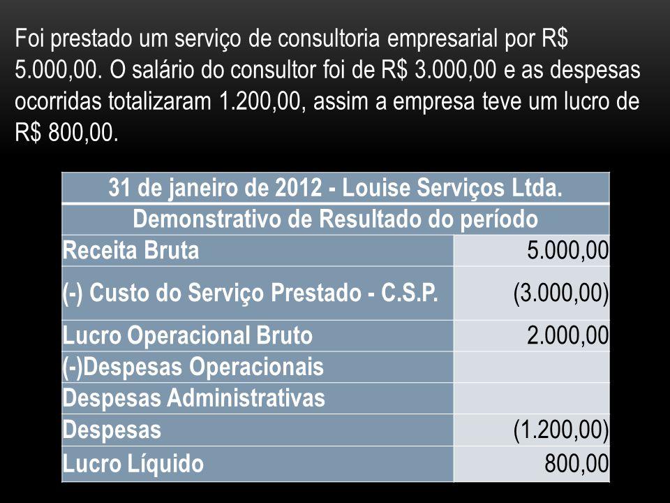 31 de janeiro de 2012 - Louise Serviços Ltda.