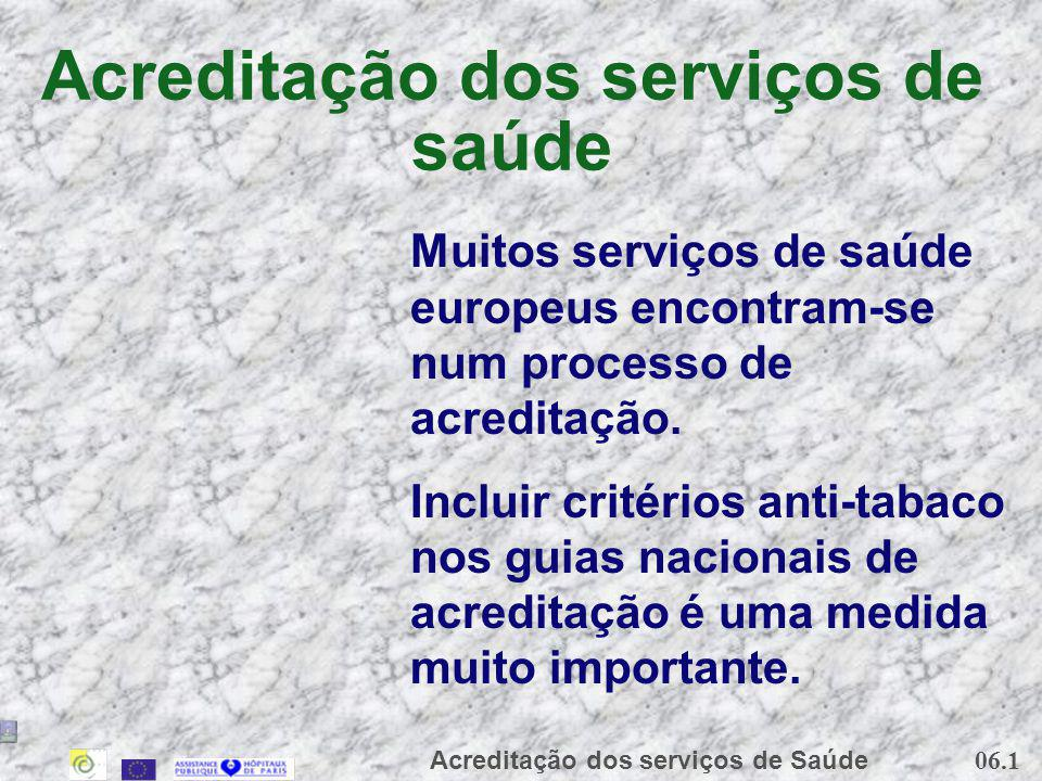 Acreditação dos serviços de saúde