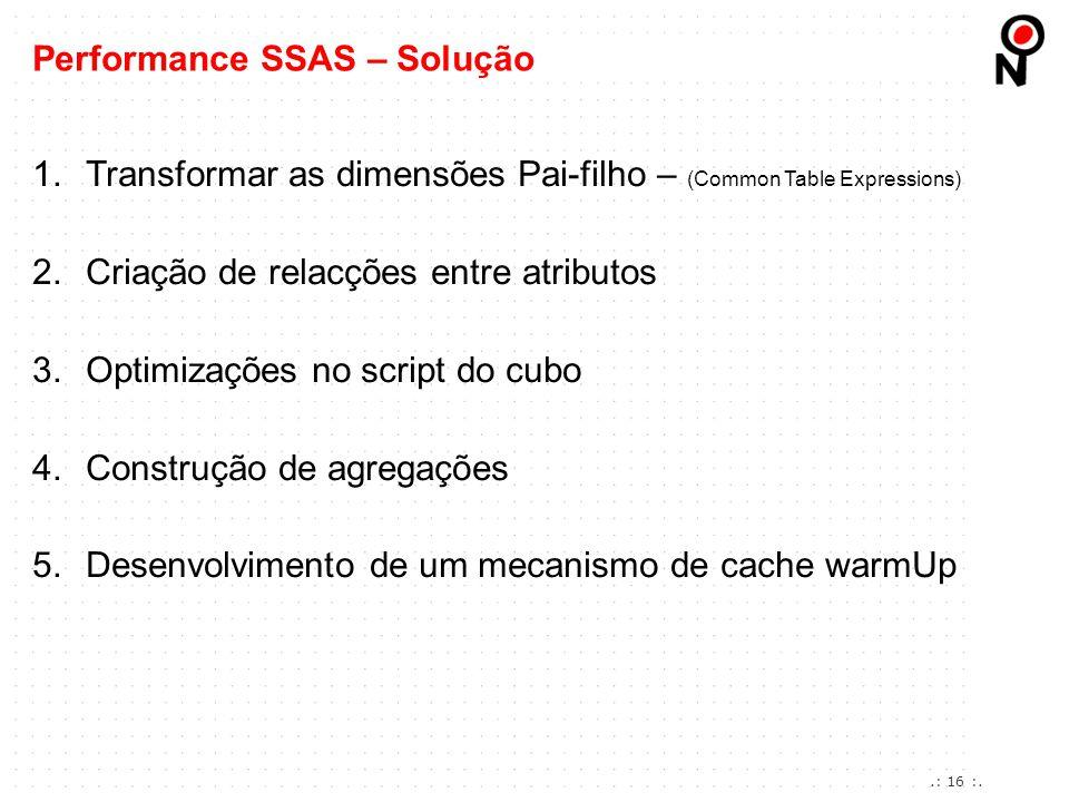 Performance SSAS – Solução