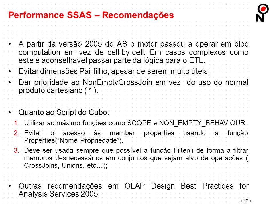 Performance SSAS – Recomendações
